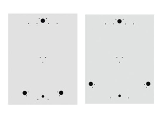 Aufstellschablonen für Drehkreuz Turni-Q Linus