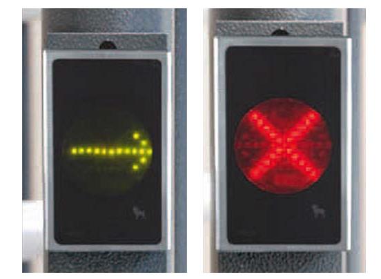 Peil und Kreuz Signalisierungsbeleuchtung für Drehkreuz Turni-Q Linus