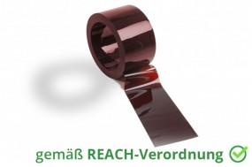 PVC Streifenzuschnitt Schweißerschutz nach DIN EN 1598 im Farbton Bronze