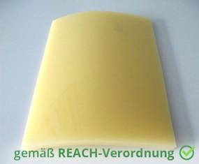 Weich PVC Platten Auflage Zuschnitt Honiggelb