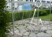 Anbauelement für 6 Fahrräder - Breite 250 cm - pulverbeschichtet - für Timberline Duro