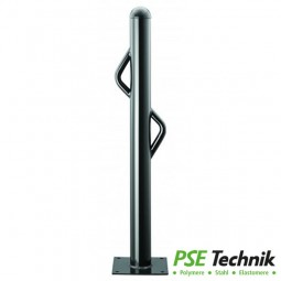 Stil-Poller Stahl mit Rohrbügel Ø 76 mm